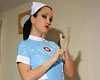 Kinky nurse plays with a big toy  latex gloves on pretty nurse uniform in place and a horny anatomy to show off  this kinky nurse loves playing with toys and human male dolls. Latex gloves on, appealing nurse uniform in place and a lustful body to show off. This kinky nurse loves playing with toys and human male dolls.